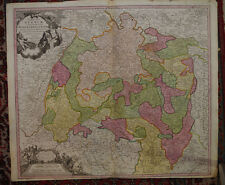 CARTE ANCIENNE DE L'ALLEMAGNE 'SUEVIA' JB HOMANN EPOQUE XVIII° 1730