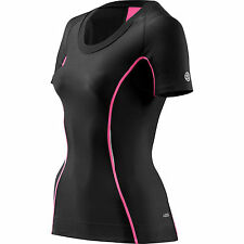 Skins A200 Women's Compression Short-sleeve Top Black/Pink XL