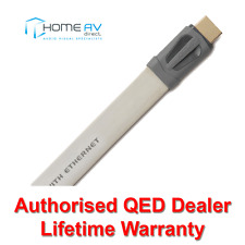 QED Performance EFLEX HDMI Lead - 4k 3D Thin Flat Slim - QE7401 - 1.5m White