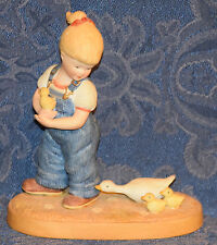 COUNTRY STORE Figurine LITTLE FARMERS - GIRL WITH DUCKS, Limited Edition, 1983