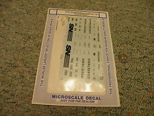 Microscale decals S 64-82 Norfolk Southern freight car PS covered hopper   N2