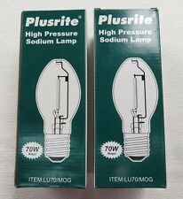 Lot of 2 Plusrite LU70/MOG ED23.5 High Pressure Sodium Lamp