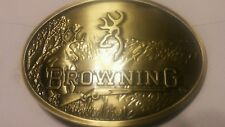 NEW Browning belt buckle with antique brass finish SHOTGUN HUNTING