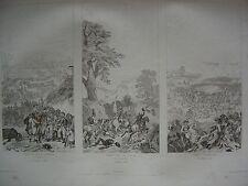 Grande gravure Entrée armée à MONS  Combats défilés Argonne et ANDERLECHT 1792