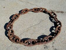 "(10 ft) ANTIQUE Rusty 8"" * STUD LINK * MARINE SHIP's ANCHOR CHAIN * Bethlehem"