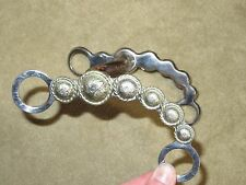 L@@K~Beautifully Made Western VINTAGE Scalloped SILVER CONCHO Ported Curb Bit!