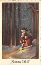 B86315 france child angel with santa claus father christmas papa noel