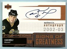 CAM NEELY 2002/03 UPPER DECK FOUNDATIONS SIGNS OF GREATNESS AUTOGRAPH AUTO SP