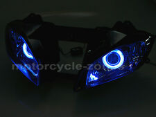 Fully Assembled Headlight W/ HID Blue Angel Demon Eyes Yamaha YZF R6 2008-2010