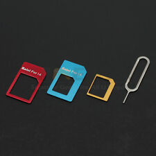 Convert Nano SIM Card to Micro/Standard Adapter For iPhone 5 4S 4 3 PCS