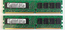 2GB 2x 1GB PC2-3200 DDR2 400 Desktop Memory RAM Low Density 240 pin Non-ECC DIMM