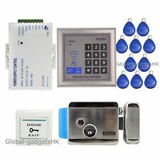 New RFID Card Door Entry Access Control System+Electric Lock+10Cards Top Quality