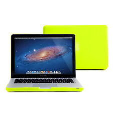 Neon Yellow Rubber Coated Case Cover for Aluminum Unibody 13 Inches Macbook Pro