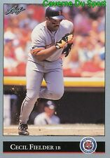 153   CECIL FIELDER    DETROIT TIGERS  BASEBALL CARD LEAF 1992