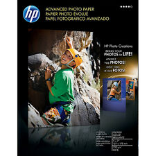 "HP Advanced Glossy 5"" x 7"" 66 lb  Photo Paper 15 Sheets no retail box"