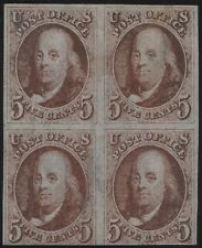 #1 BLOCK OF 4 VF-XF OG LH (APP.) WITH PSE CERT CV $50,000 WL7595