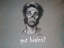 Got Brains? Zombies anvil Gray T-shirt Men's Large used