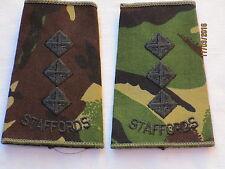 Rangschlaufen:  Captain, Staffordshire Regiment , DPM, STAFFORDS