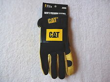 """Mens """" NWT """" NOS """" Premium Leather Jumbo Size Caterpillar Work Gloves """" GREAT PA"""