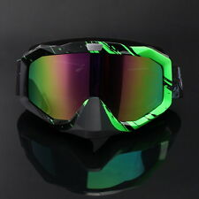 Black Green Motorcycle Motocross MX Goggles Off Road Dirt Bike Bicycle Glasses