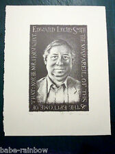 TOM PHILLIPS 1984 - SIGNED LIMITED EDITION LITHOGRAPH (50) 'EDWARD LUCIE-SMITH'