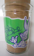 1994 Welch's Looney Tunes Straight Jelly Jar Glass-#1-Bugs Bunny Carrot Patch
