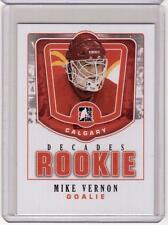 MIKE VERNON 10/11 ITG Decades 1980s Rookie #DR-29 SP Insert Card Calgary Flames