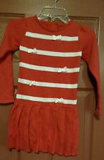 gymboree mod about orange sweater dress size 3t nwt