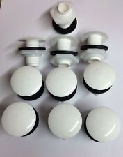 Pack Of 10 White Cistern Blanking Plugs  - Made By Wirquin