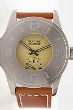 RARE Glycine INCURSORE HALF HUNTER 44mm SS Mens Sports Watch