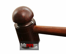Cricket Bat Mallet Knocking in Bat Stroke Wooden Handle (WOODEN Mallet)