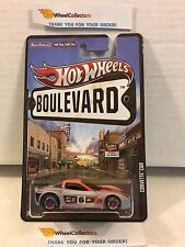 Corvette C6R * Red/Grey/Black * Boulevard Hot Wheels w/ Real Riders * M4