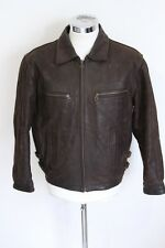 DG FURS GLENN MILLER'S AAF BAND leather jacket giubbotto pelle giubbino M E1790