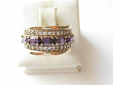 925 Sterling Silver Turkish Authentic Hurrem Sultan Amethyst Ring Size 9