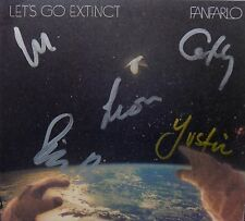 FANFARLO * LET'S GO EXTINCT * SIGNED UK 10 TRK CD + BONUS 4 TRK EP * BN&M!