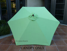 9ft Patio Outdoor Yard Market Umbrella Replacement  Canopy  Cover Top 6 rib Lime