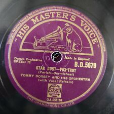 78rpm TOMMY DORSEY star dust / swanee river