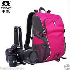 Pro Deluxe Rose Camera Backpack Waterproof Bag Case For Canon Nikon DSLR SLR