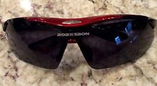 ROBESBON Men's  Sunglasses Polarized Design Shades Sport cycling /Case/Black/Red
