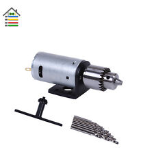 Mini DC Electric Motor Hand Drill & Twist Bits Set & JTO Chucks Bracket Stand
