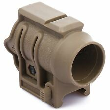 Durable Sand Quick Release 25.4mm Flashlight Scope Holder Ring Mount W 20mm Rail