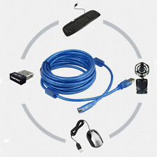 USB 2.0 Active Repeater Male to Female F/M Extension Cable Cord Adapter Blue 3M