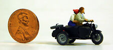 Preiser 1/87 HO Zundapp KS 750 Motorcycle With Two Riders SCALE FIGURE SET 28148