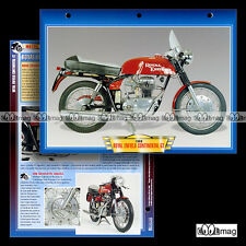 #041.08 Fiche Moto ROYAL ENFIELD 250 CONTINENTAL GT 1966 Motorcycle Card