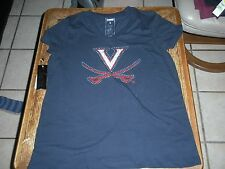 Mint w Tags L Campus Couture UVA Cavaliers Bedazzled V Neck T Shirt