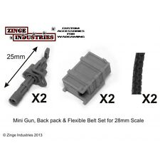 Zinge Industries Big Guns Sat Fire Minigun Back Pack & Flex Ammo Belt x2 S-GAR02