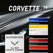 CORVETTE STINGRAY 2014 - BOOK BROCHURE + PAINT CHART - CHEVROLET LT1 CONVERTIBLE