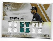 2015 TOPPS TRIPLE THREADS - SEPIA - JERSEY RELIC - ROBINSON CANO /27