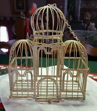 IVORY METAL ♡ BIRD CAGE HANGING GARDEN PLANTER FOR WEDDING ♡ VINTAGE STYLE