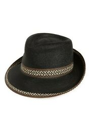 Eric Javits Packable Fedora Sun Hat Black One Size NEW Retail $170.00 FREE SHIP